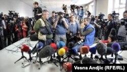 Журналісти в очікуванні прес-конференції. Ілюстративне фото.