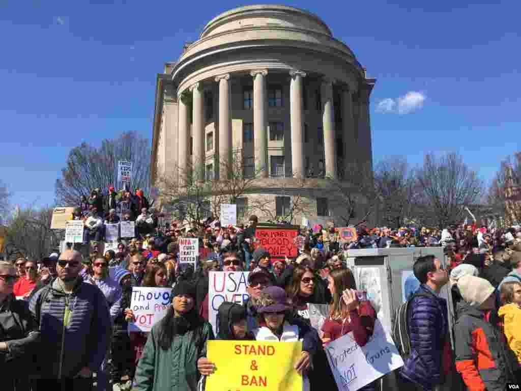 Marcha por Nuestras Vidas, Washington D.C. Foto: Jill Craig, VOA.