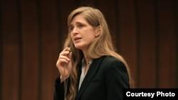 美国常驻联合国代表鲍尔(图片来源:U.S. Mission Geneva)