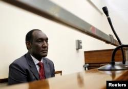 FILE - Exiled Rwandan General Faustin Kayumba Nyamwasa looks on during his court appearance in Johannesburg, June 21 2012.