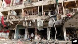 伊拉克首都巴格达6月7日汽车爆炸现场
