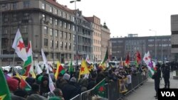 Pro Salih Muslim protest in Prague, Czech Republic