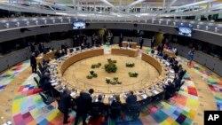 Lideri Evropske unije na samitu u Briselu 21. marta 2019. godine (Foto: AP/Aris Oikonomou)