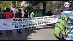 Etidyan yo Manifeste Vandredi 9 Oktòb la pou Mande Jistis pou Gregory Saint Hilaire