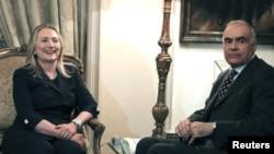 希拉里克林頓與埃及外長會談