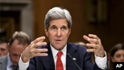 美国国务卿克里4月8日在美国国会作证