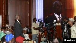 Le nouveau ministre de l'Energie, du Travail et du Logement Babatunde Fashola à Abuja, 11 novembre 2015. (REUTERS/Afolabi Sotunde)