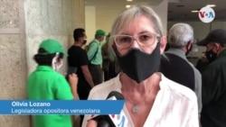 Olivia Lozano, legisladora opositora venezolana