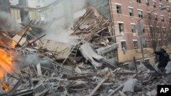 Mesto eksplozije u Njujorku