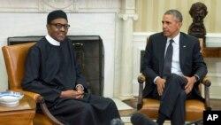 Shugaba Muhammadu Buhari da Shugaba Barack Obama.