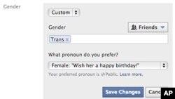 Người sử dụng Facebook giờ có hơn 50 lựa chọn trong cách mà họ mô tả bản thân, 13/2/2014