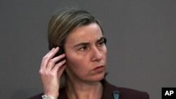 Federica Mogherini, chef de la diplomatie européenne, à Ankara le 25 janvier 2016. (AP Photo/Burhan Ozbilici)