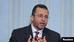 埃及总理甘迪勒就任后在开罗第一次记者会上讲话
