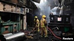 Fire at the Jomo Kenyatta International Airport in Nairobi, Kenya, on Aug. 7, 2013, destroyed the arrivals terminal.