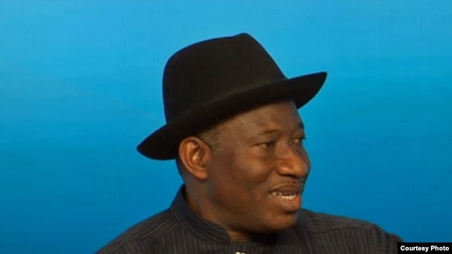 Nigerian President Goodluck Jonathan at 2013 World Economic Forum Annual Meeting. (Credit: WEC)