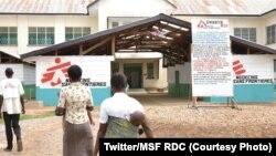 Basi mpe bilenge na lopitalo ya OMS na Kananga, na Kasaï-central, 22 novembre 2019. (Twitter/MSF RDC)