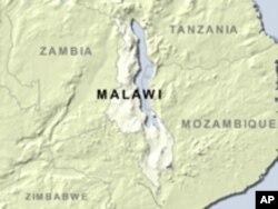 Map of Malawi.