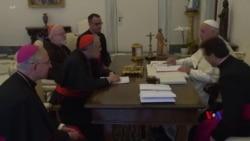 2018-09-13 美國之音視頻新聞: 教宗接見美國主教團討論虐待醜聞