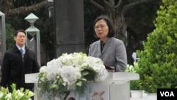 台灣總統蔡英文在228事件72周年中樞紀念儀式上講話 (美國之音張永泰)