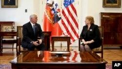 ABŞ-ın vitse-prezidenti Mayks Pens Çili prezidenti Mişel Maçeletlə danışıqlar zamanı