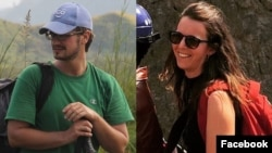 This composite image made from photos on their respective Facebook pages shows UN workers Michael Sharp and Zaida Catalan. The two are among six people missing from Congo's Kasai region since March 12, 2017.