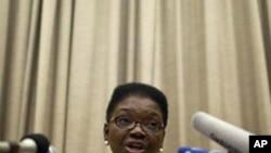 베이징에서 기자회견을 가진 발레리 아모스 유엔 OCHA 국장