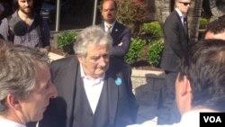El presidente uruguayo, José Mujica, dijo que en todas partes hay gente está disconforme y que discrepa, pero que hay que contribuir a la racionalidad. [Foto: Ramón Taylor, VOA].
