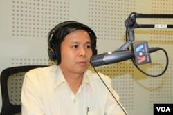 Tek Vannara Executive Director NGO Forum of Cambodia. (Lim Sothy/VOA Khmer)