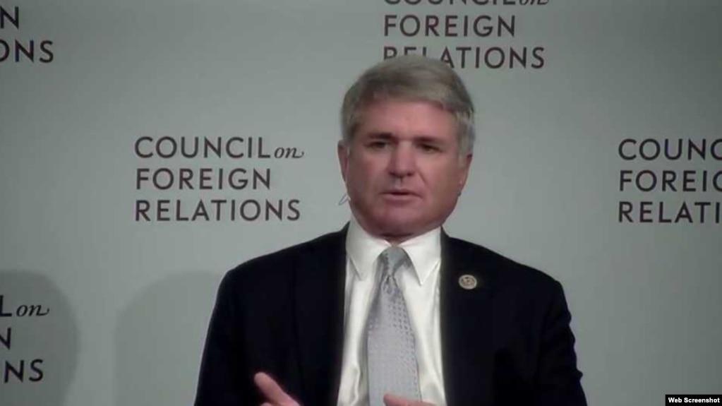 美國眾議院國土安全委員會主席邁克爾·麥克考爾眾議員(外交關係網站截圖)