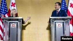 Хиллари Клинтон и Михаил Саакашвили
