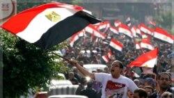 معترضان در اسکندریه در ابراز همبستگی با هموطنان خود در قاهره خواستار پایان حکمرانی نظامی شدند. ۲۵ نوامبر ۲۰۱۱