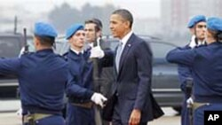 奥巴马总统11月19日抵达里斯本参加北约峰会
