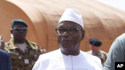 Le présiden malien, Ibrahim Boubacar Keita, dans le nord du Mali, le 19 mai 2017.