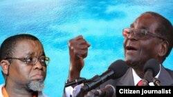UMongameli Robert Mugabe loMnu. Gwede Mantashe owebandla elibusayo e South Africa, ele ANC.