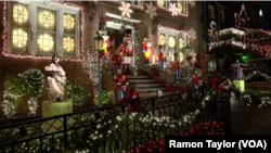 The Christmas light display in Dyker Heights, New York, attracts 100,000 visitors each year.