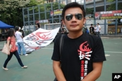 中國遊客歐先生首次參加香港紀念六四遊行
