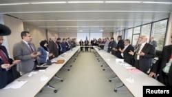 Perundingan perdamaian Yaman di Swiss bulan Desember lalu (foto: dok).