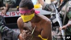 菲律賓政府軍在南部城市三寶顏拘捕穆斯林叛軍