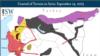Premier bombardement russe en Syrie, près de Homs