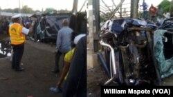 L'accident à Maputo, le 25 mars 2018. (VOA Mozambique)