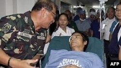 Chỉ huy của lực lượng phiến loạn theo chủ nghĩa Mao Trạch Đông trên đảo Luzon trong bệnh viện ở Quezon City, phía bắc Manila, Philippines