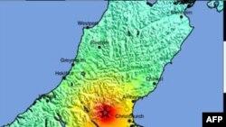 Sở Địa chấn Hoa Kỳ cho biết trận động đất đo được 7.0 trên địa chấn kế cách phía tây thành phố Christchurch chừng 30 kilomét