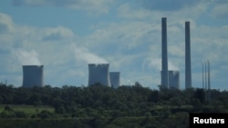FILE - The Liddell coal-fired power station is seen in the Hunter Valley, north of Sydney, Australia, April 9, 2017.