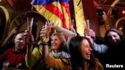 Slavlje pristalica nezavisnosti Katalonije posle izbora