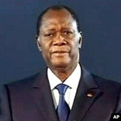 Le président Ouattara lors de son discours télévisé de jeudi soir