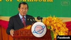 柬埔寨首相洪森2019年資料照。