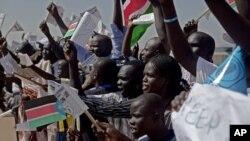 Scènes de liesse à Juba
