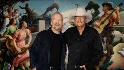 Alan Jackson, Jerry Reed e Don Schlitz na passadeira da fama de música country