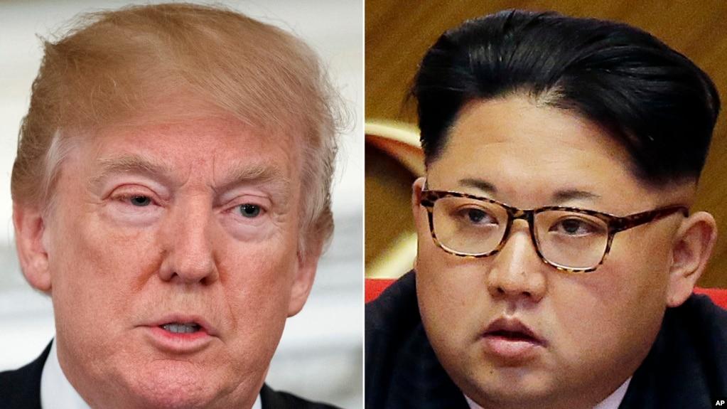 美國總統川普和朝鮮領導人金正恩的合成照
