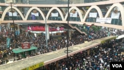 遊行人士迫爆銅鑼灣的主要交通幹道(香港市民提供)